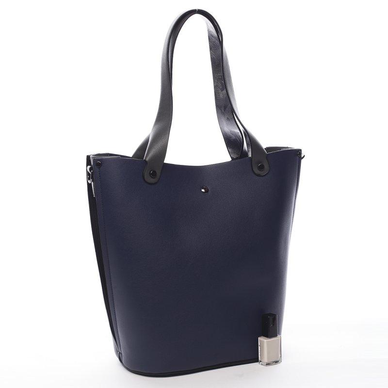 Kombinovaná módní dámská kabelka Thomas Pierre Cardin modrá