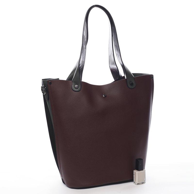 Kombinovaná módní dámská kabelka Thomas Pierre Cardin vínová