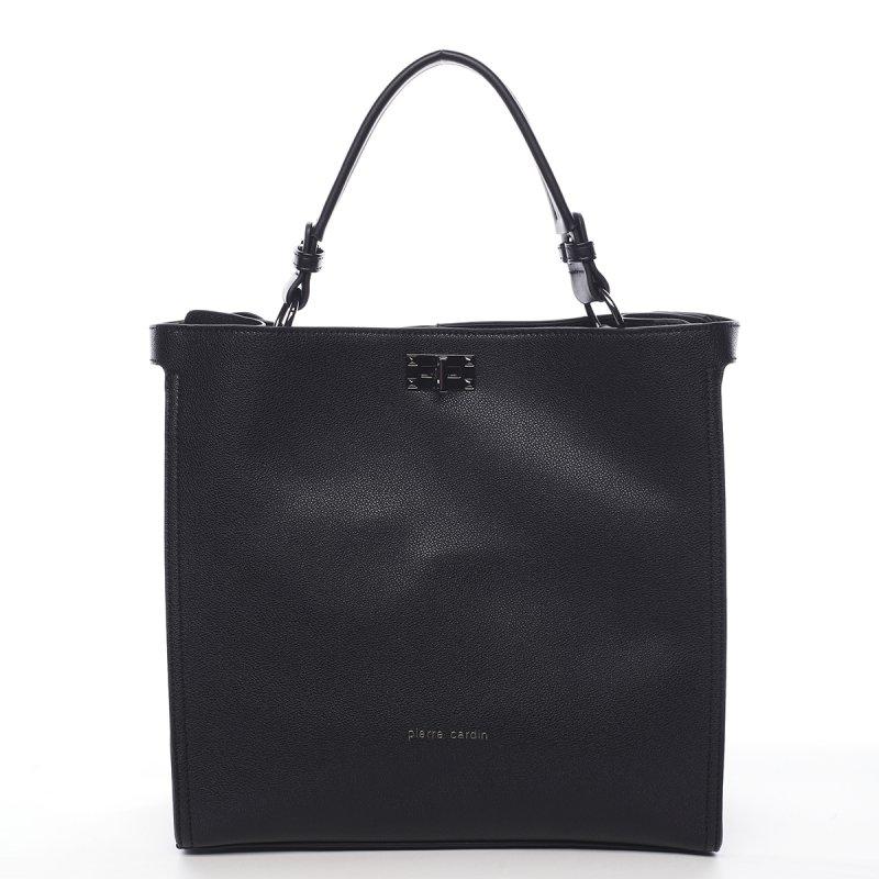 Elegantní dámská koženková kabelka Jacinthe Pierre Cardin černá