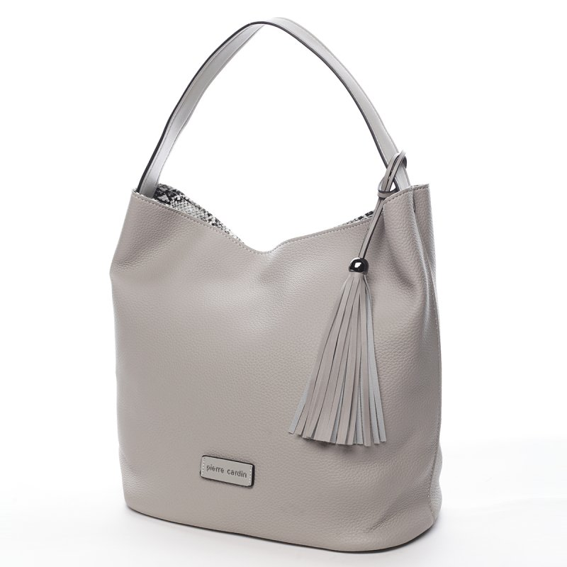 Pohodlná dámská kabelka Milaire Pierre Cardin šedá