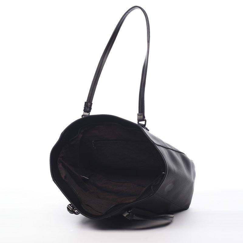 Praktická větší dámská taška Martine Pierre Cardin černá