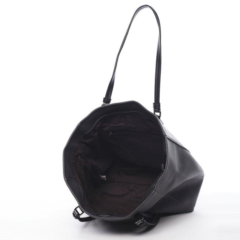 Praktická větší dámská taška Martine Pierre Cardin šedá