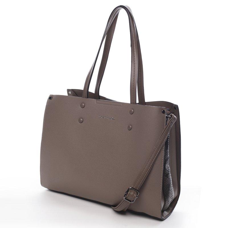Velká praktická dámská kabelka Rémi Peirre Cardin šedá