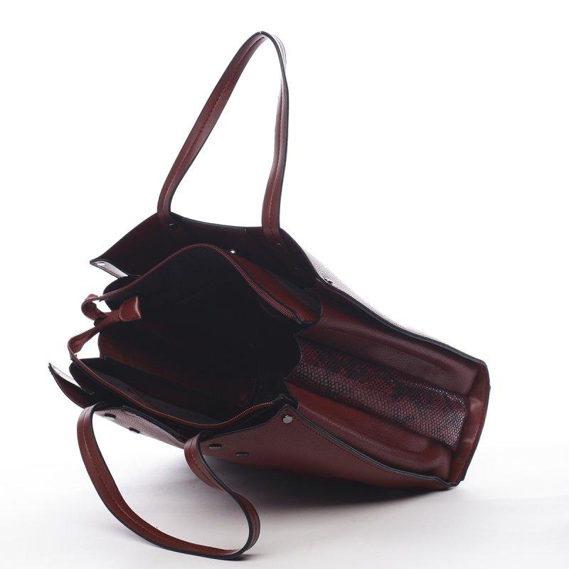 Pohodlná dámská kabelka Prisca Peirre Cardin vínová