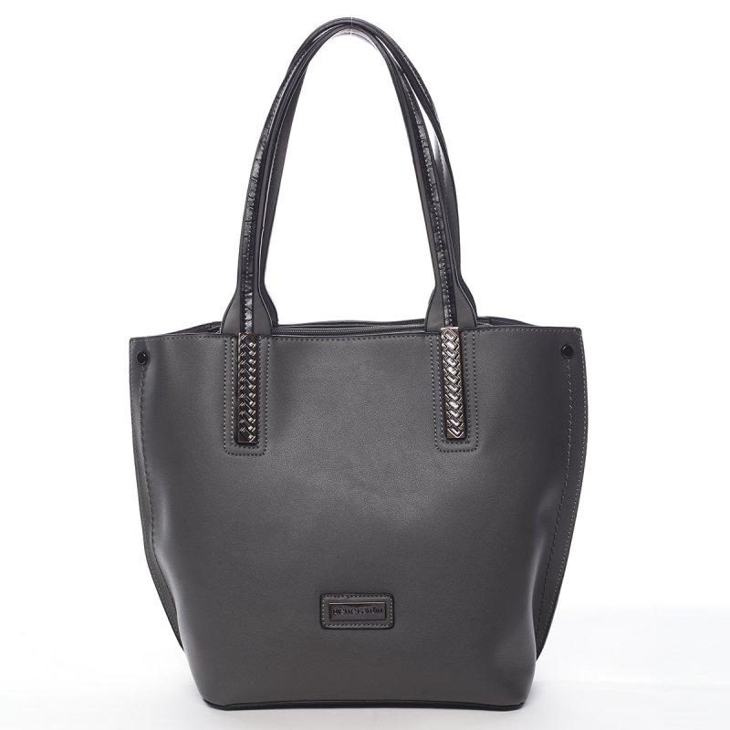Stylová módní dámská taška Gildas Pierre Cardin šedá