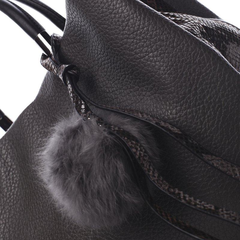 Nepřehlédnutelná módní dámská kabelka Agnes Pierre Cardin šedá