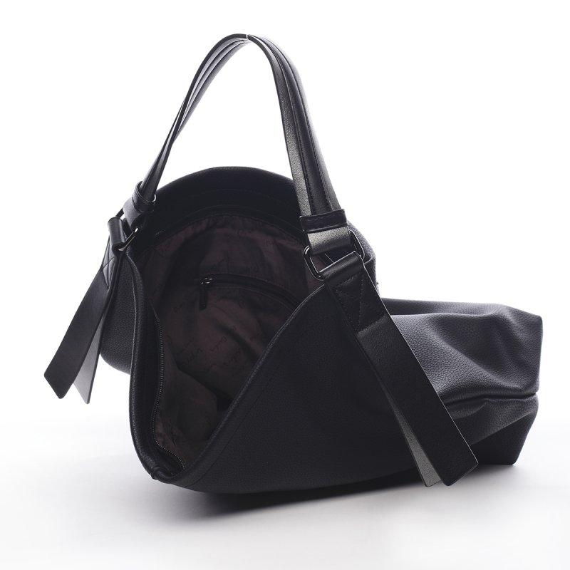 Pohodlná větší dámská taška Pauline Pierre Cardin černá