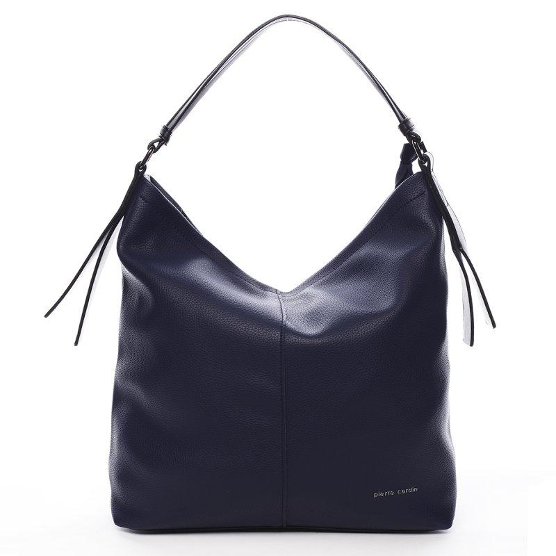 Pohodlná větší dámská taška Pauline Pierre Cardin modrá
