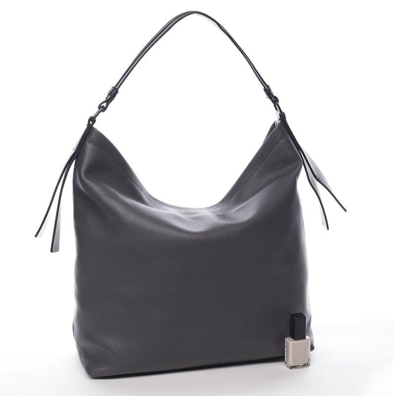 Pohodlná větší dámská taška Pauline Pierre Cardin šedá