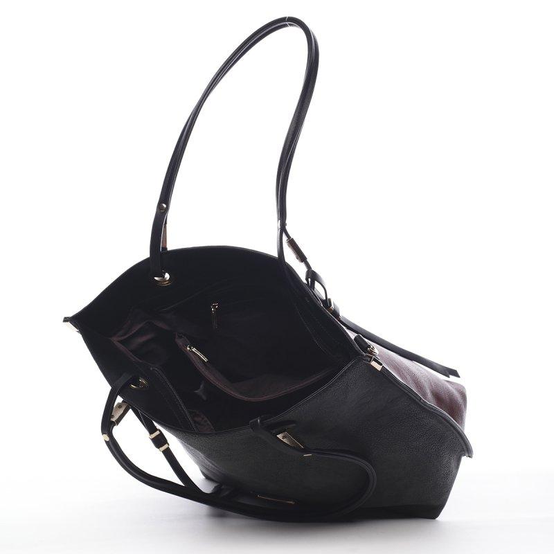 Stylová dámská kabelka Hortense Pierre Cardin vínová/černá