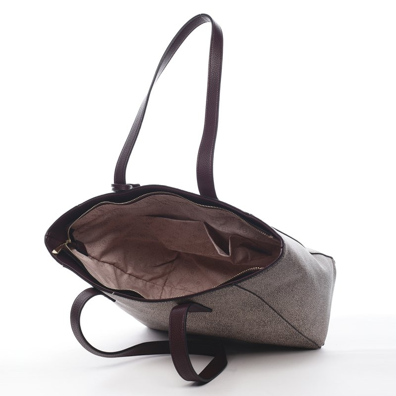Luxusní dámská taška na rameno Aldric Laura Biagiotti vínová