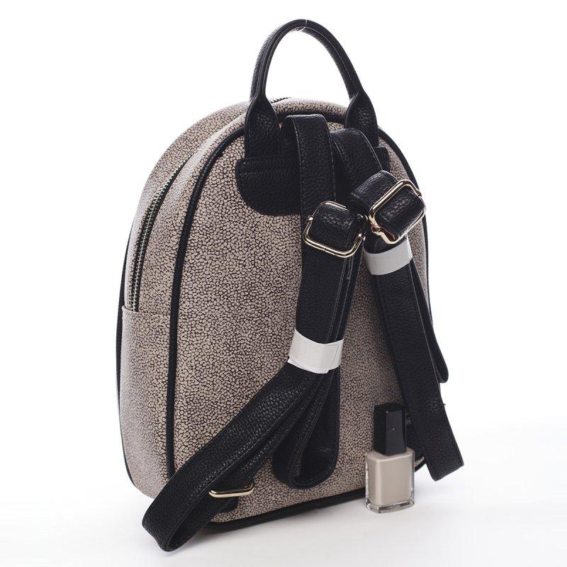 Luxusní dámský koženkový batůžek Edouard Laura Biagiotti černá