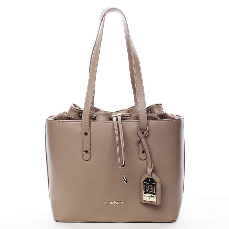 Módní dámská taška na rameno Basile Laura Biagiotti béžová