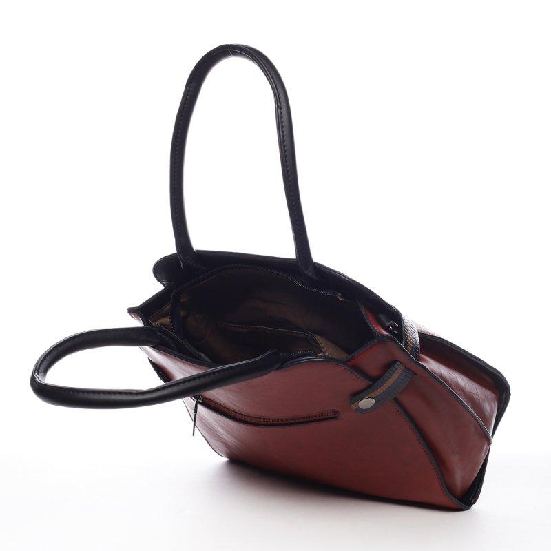 Pevná dámská módní taška Ella červená