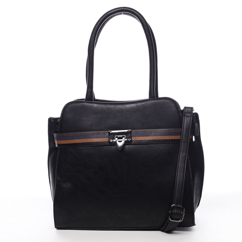 Pevná dámská módní taška Ella černá