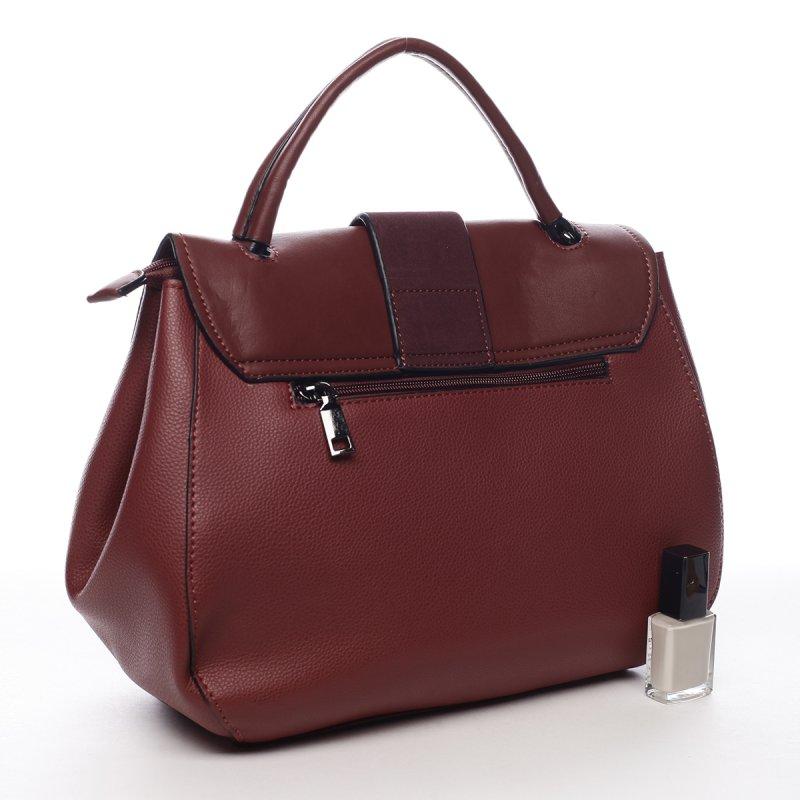 Kombinovaná dámská taška do ruky Eugenie vínová