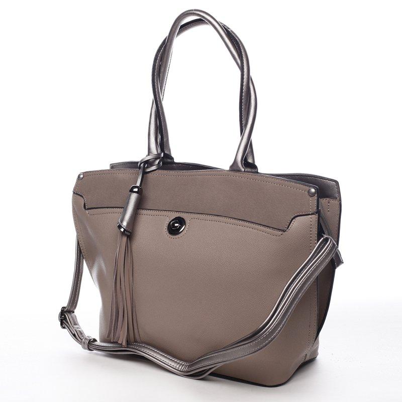 Módní dámská kabelka Apolline tmavě béžová