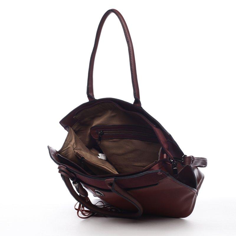 Módní dámská kabelka Apolline vínová