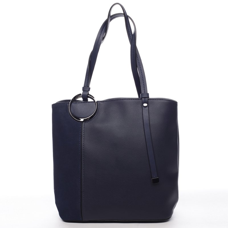 Nepřehlédnutelná dámská koženková kabelka Arnoud modrá