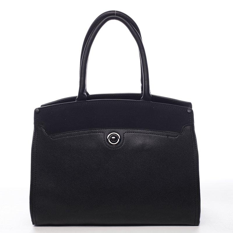 Pevný dámský koženkový kufřík Lourdes černá