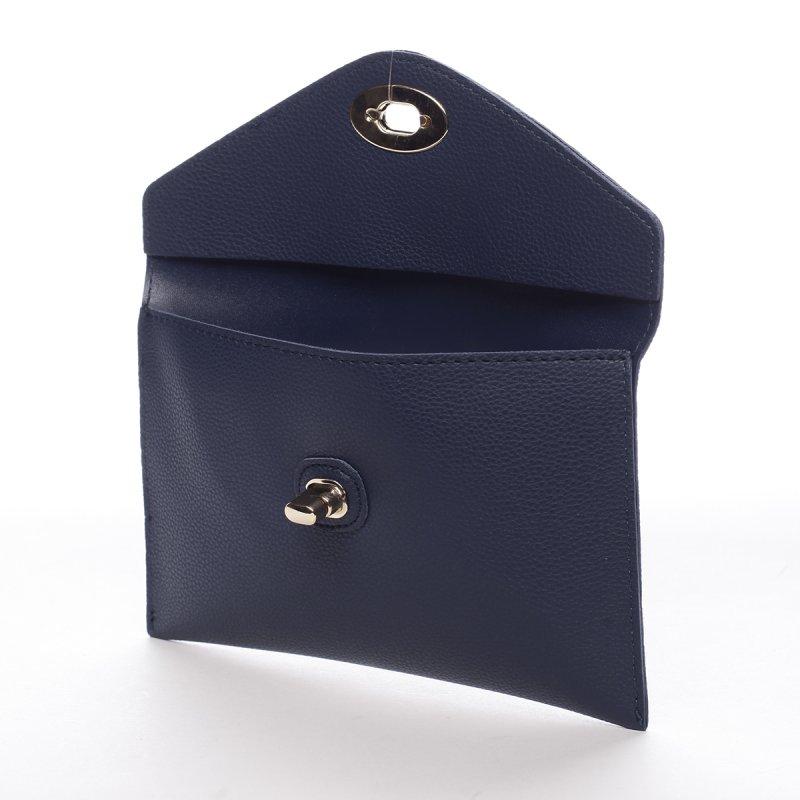 Dámské psaníčko do ruky s klopou Beatrice modrá