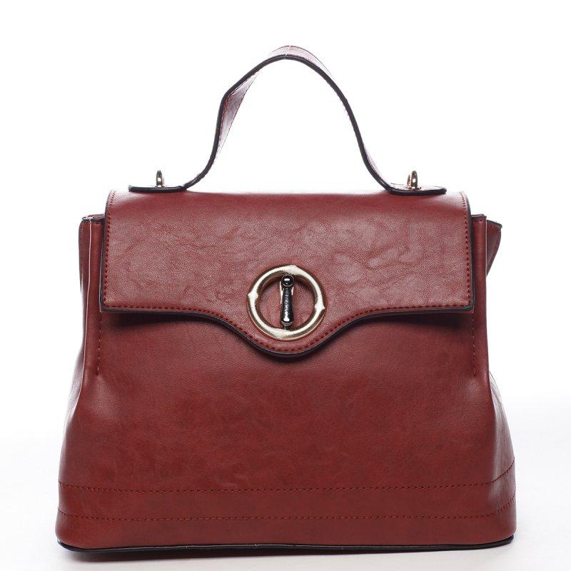 Dámská prostorná taška s klopou Lucile červená