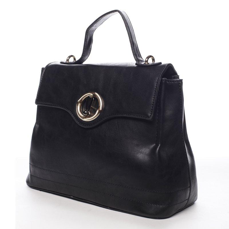Dámská prostorná taška s klopou Lucile černá