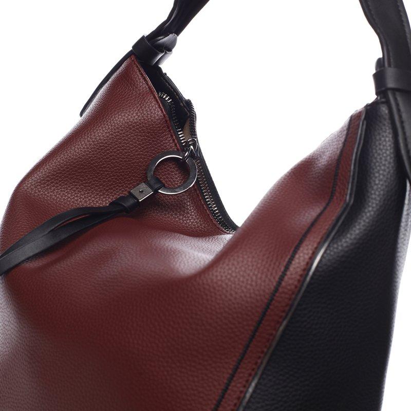 Pohodlná módní dámská koženková kabelka Alexis červená