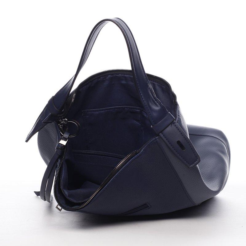 Pohodlná módní dámská koženková kabelka Alexis modrá