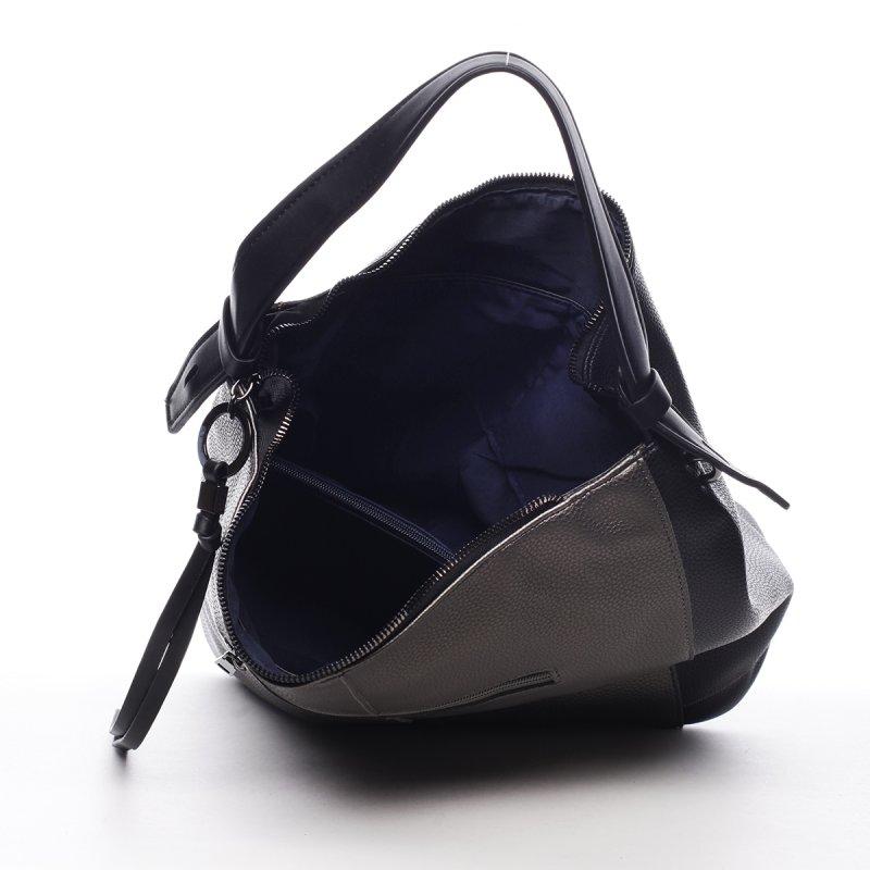 Pohodlná módní dámská koženková kabelka Alexis černá