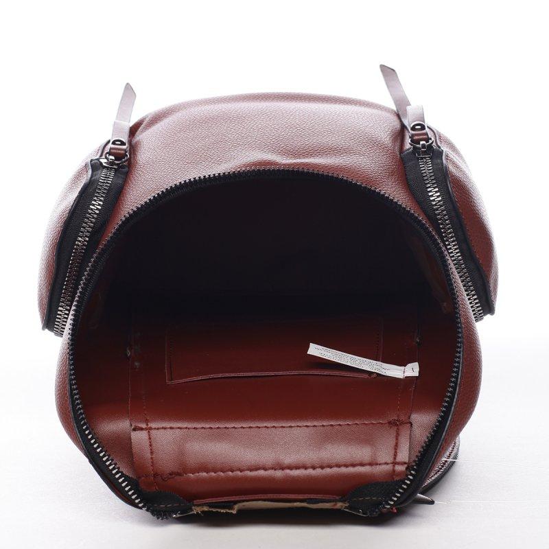 Městský koženkový batůžek Damien červená L