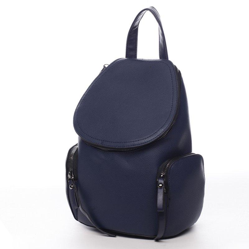 Městský koženkový batůžek Aimee modrá S
