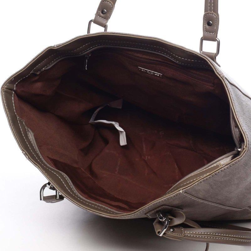 Dámská prostorná pohodlná taška Isabelle zlatá