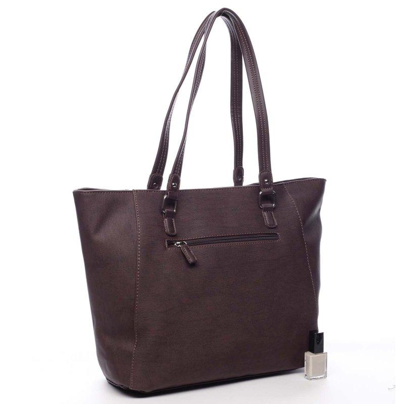 Dámská prostorná pohodlná taška Isabelle vínová
