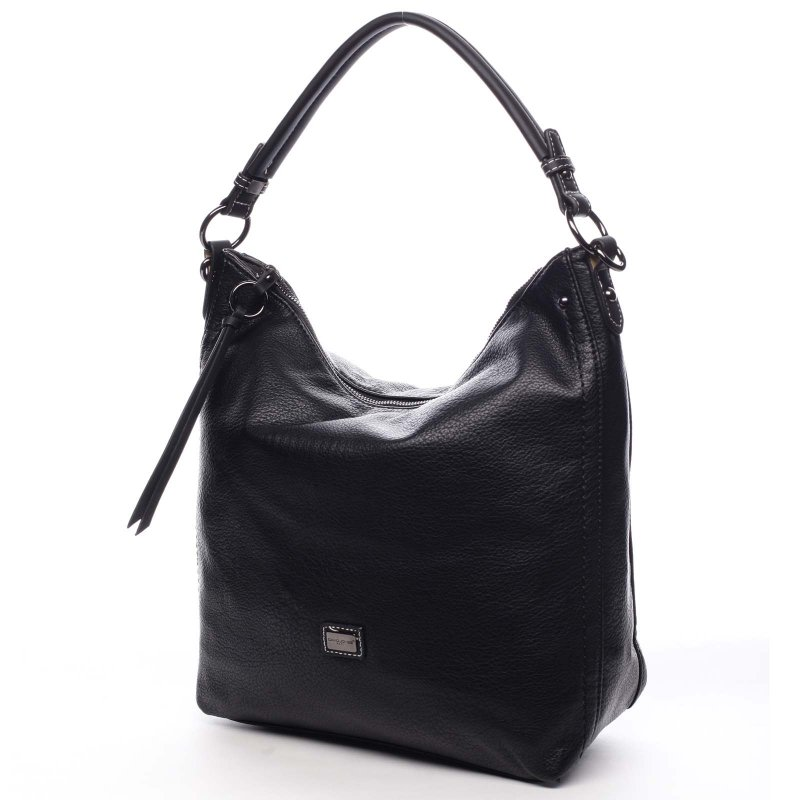 Pohodlná větší dámská taška na rameno Honorie černá