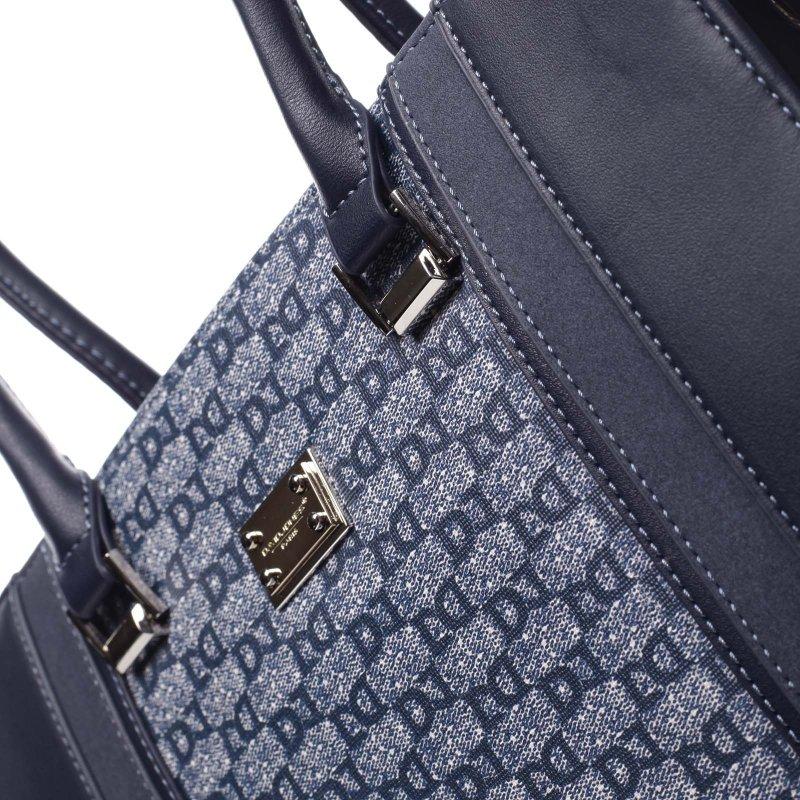 Pevná větší dámská taška s potiskem Romania modrá