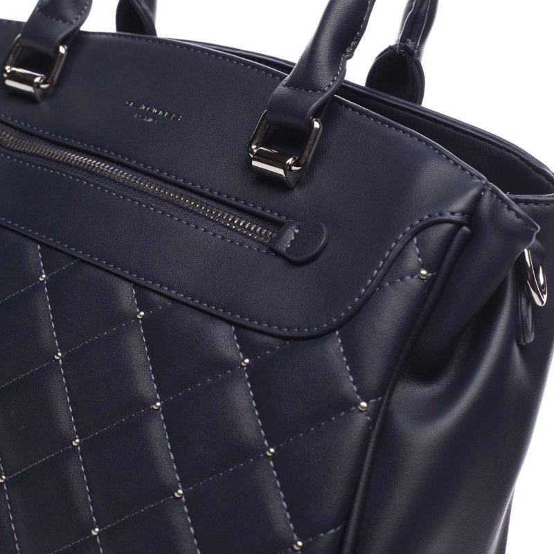 Prošívaná dámská kufříková kabelka Auguste modrá