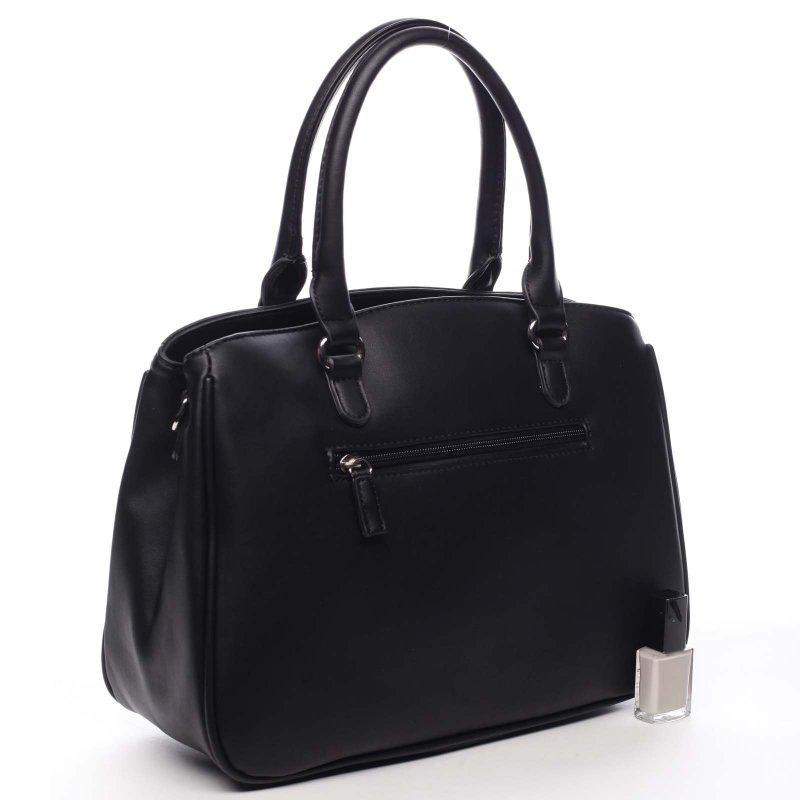 Prošívaná dámská kufříková kabelka Auguste černá