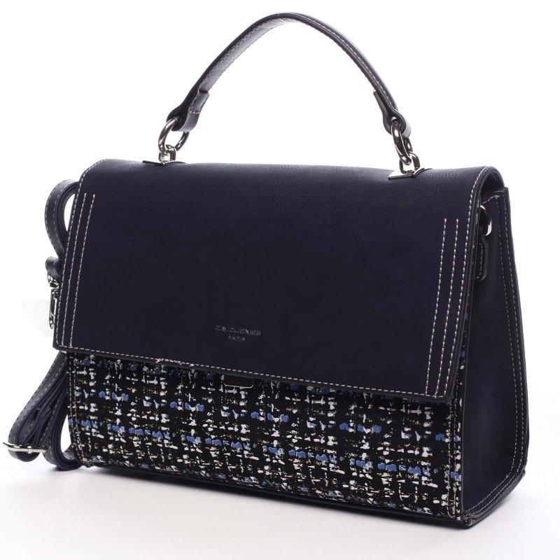 Nepřehlédnutelná dámská kabelka do ruky Albin modrá
