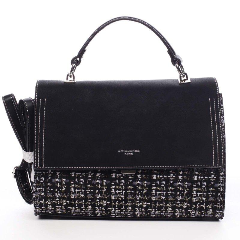 Nepřehlédnutelná dámská kabelka do ruky Albin černá