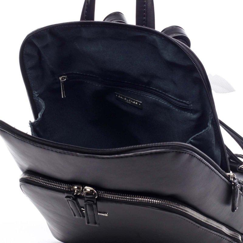 Větší pevný dámská batoh Casimir  černá