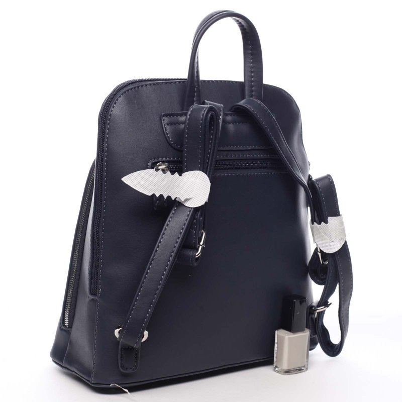 Větší pevný dámská batoh Casimir  modrá