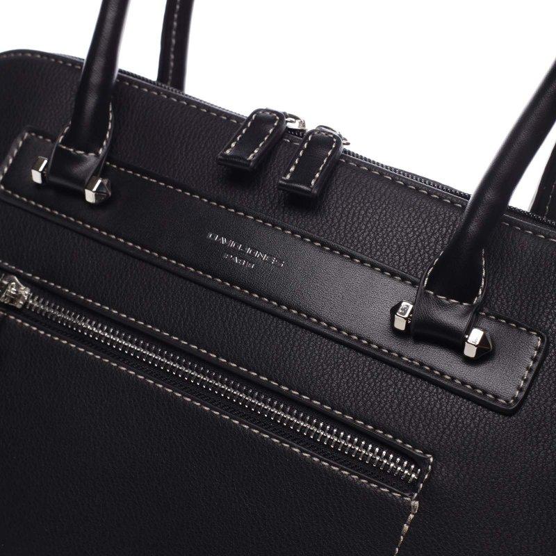 Větší pevná dámská taška s dlouhým uchem Colette černá