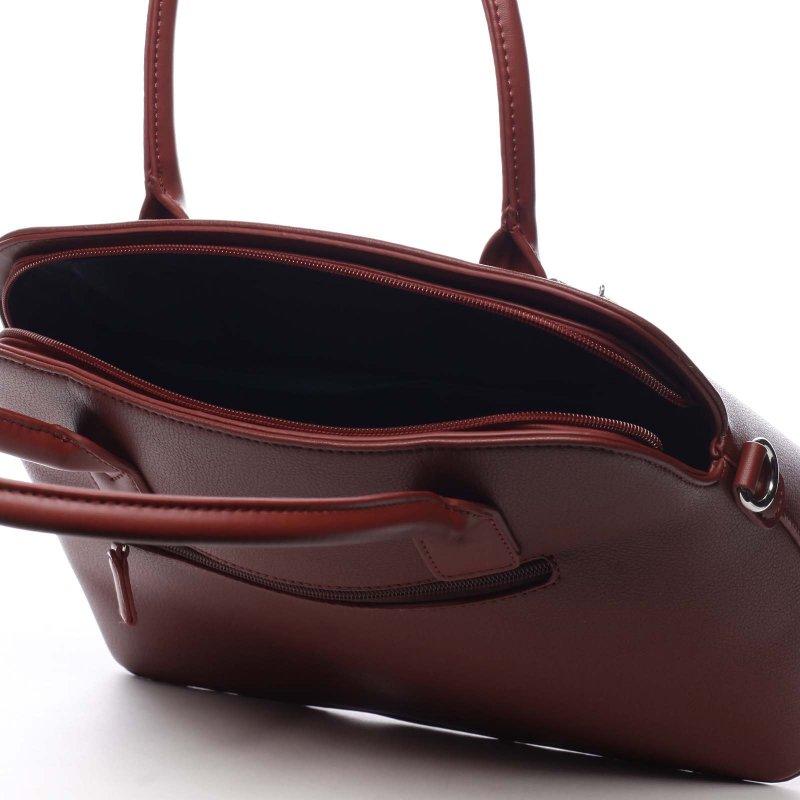 Krásná módní dámská kabelka Jean vínová