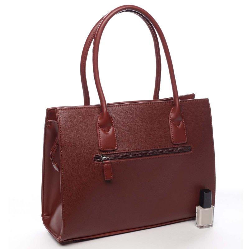 Stylová módní dámská kabelka Valéry vínová