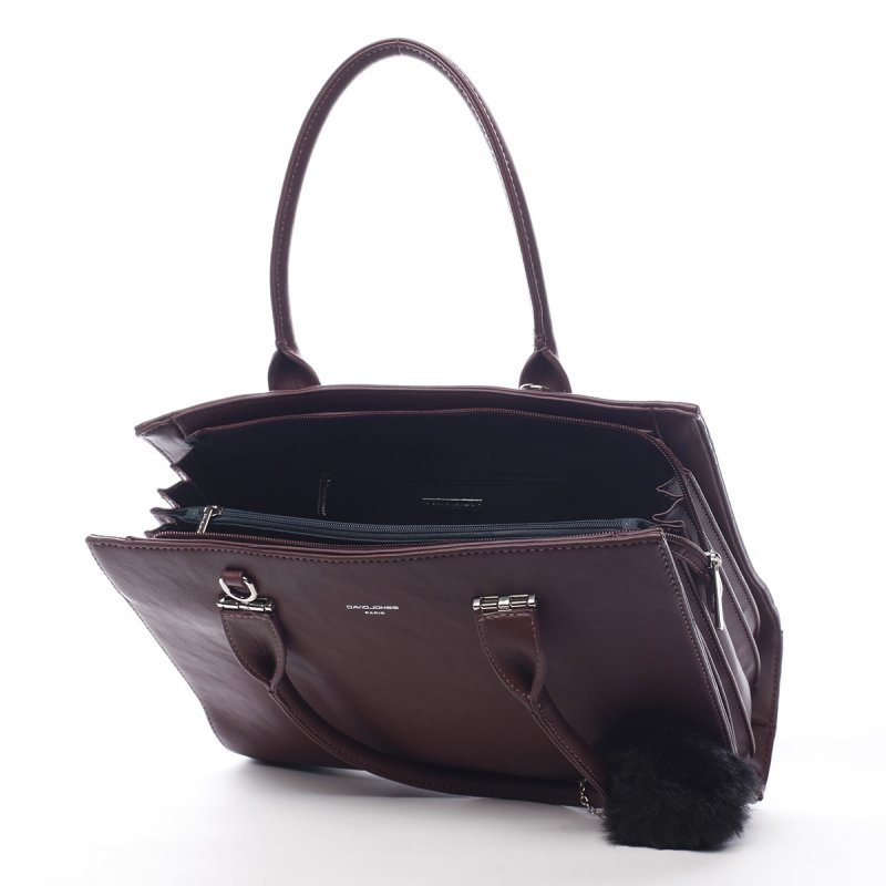Prostorná okouzlující dámská taška Vivien vínová