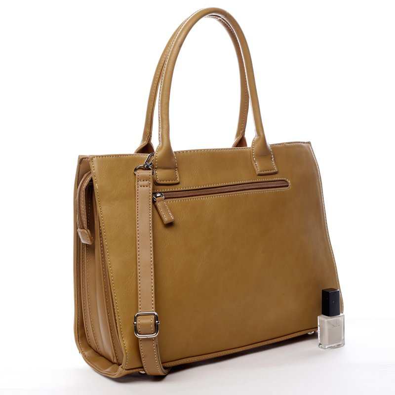 Prostorná okouzlující dámská taška Vivien žlutá