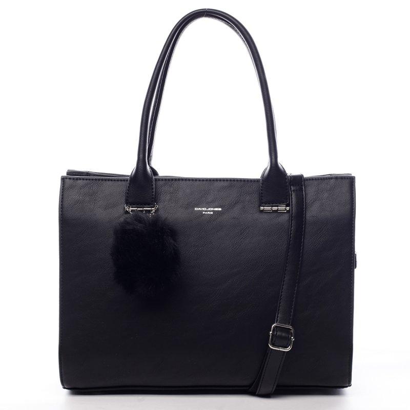 Prostorná okouzlující dámská taška Vivien černá