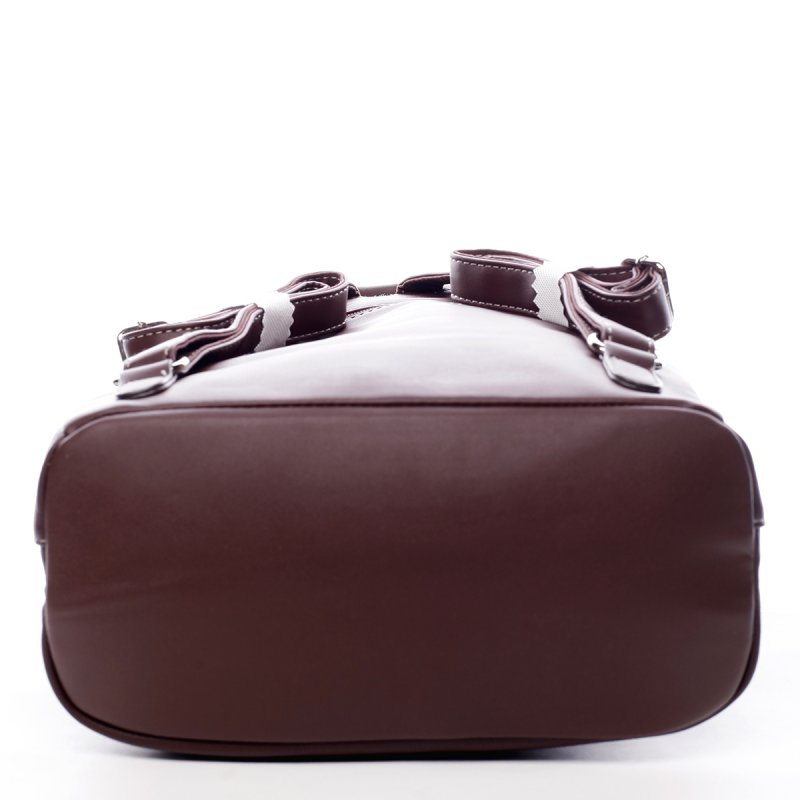 Prostorný městský dámský batoh Justine vínová