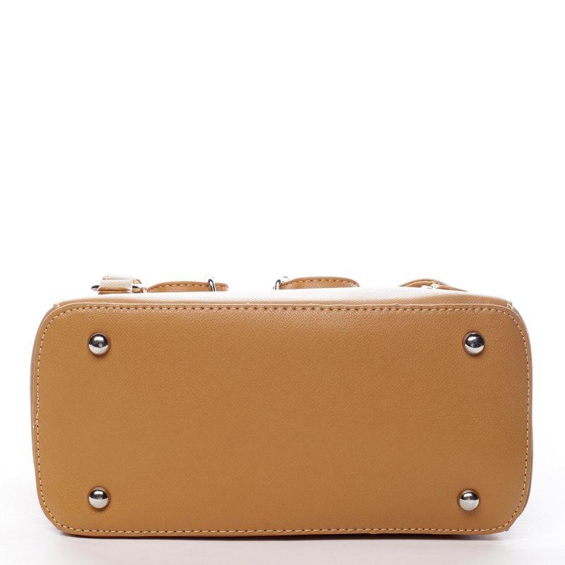 Nepřehlédnutelný dámský koženkový batoh Pol žlutá